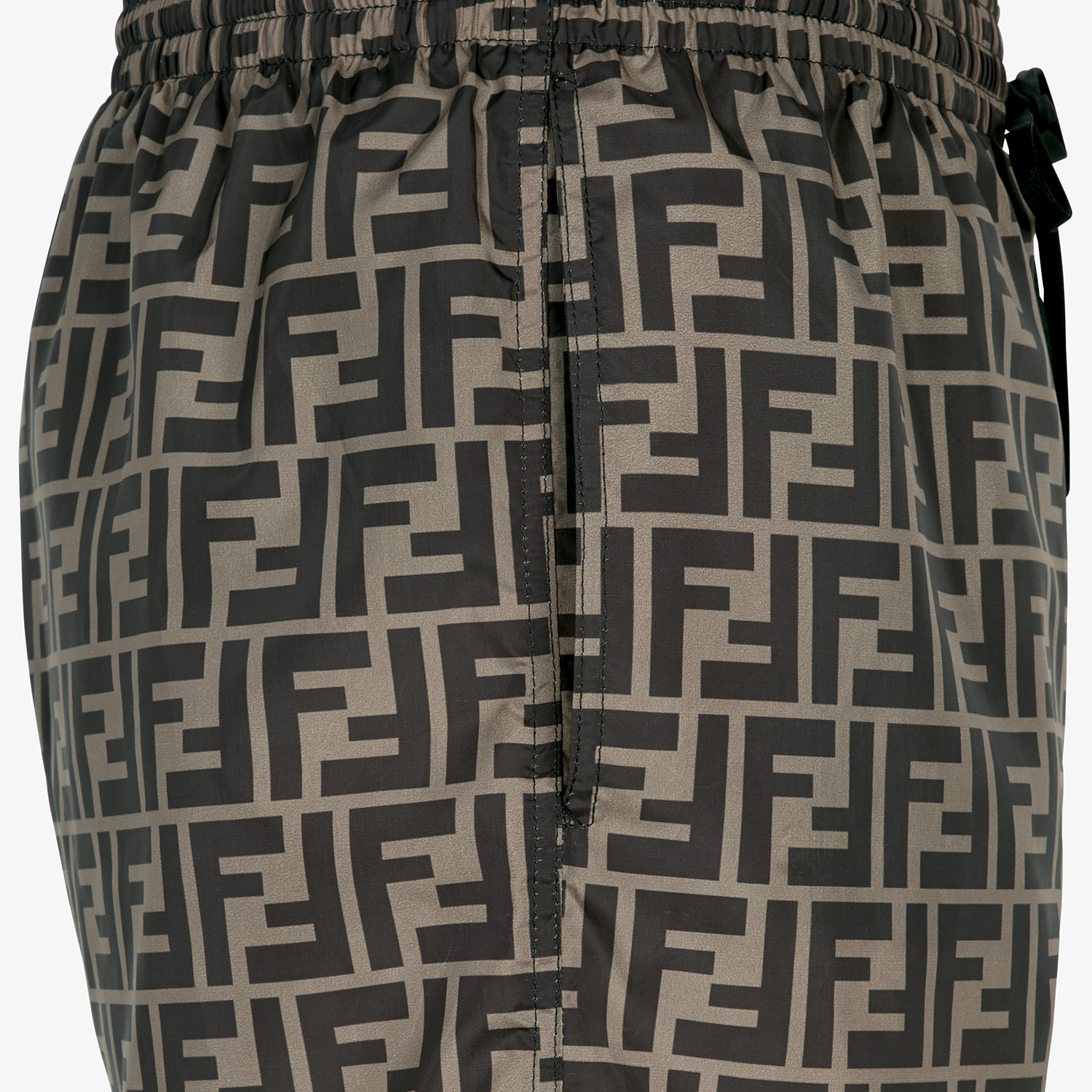 FENDI SWIM SHORTS - Brown fabric shorts - view 3 detail