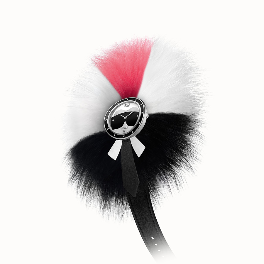 FENDI Fendi My Way Karlito - 36 mm - Watch with studs and fur Glamy - view 3 detail