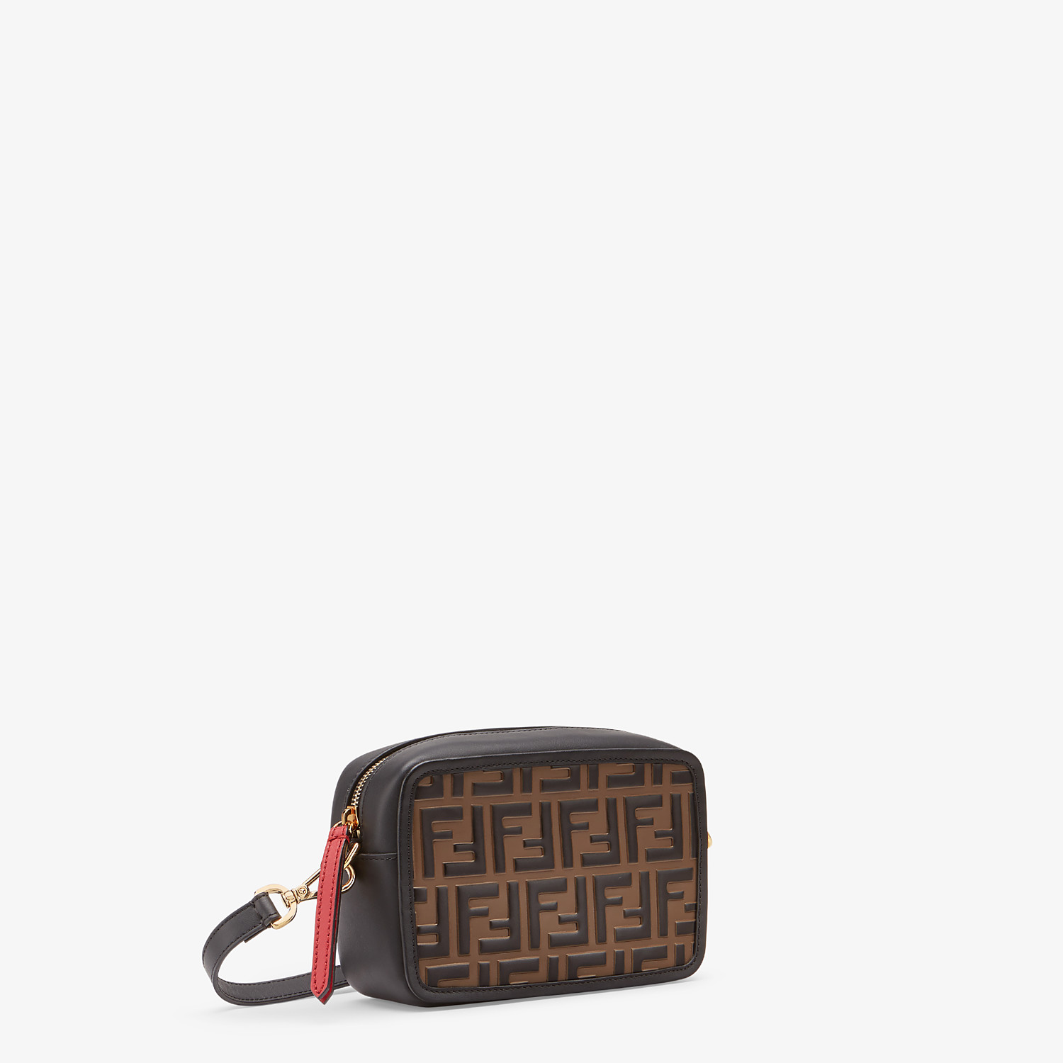 FENDI MINI CAMERA CASE - Red leather bag - view 2 detail