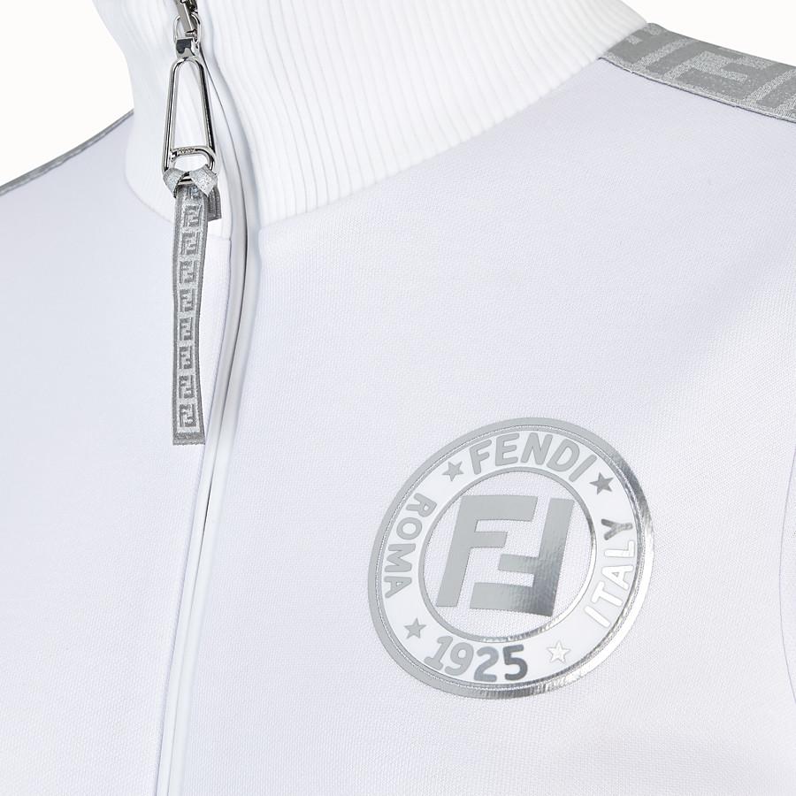 FENDI FELPA - Felpa in jersey bianco - vista 3 dettaglio
