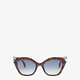 FENDI IRIDIA - Havana FF sunglasses - view 1 thumbnail