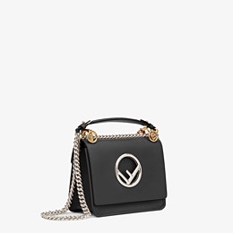 FENDI KAN I F SMALL - Black leather mini-bag - view 3 thumbnail