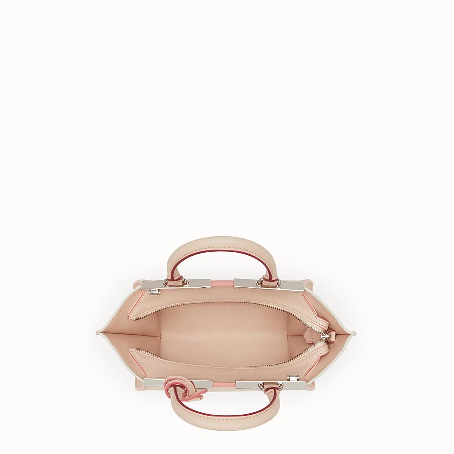FENDI 迷你款式3JOURS - 粉末粉紅色皮革手提包 - view 4 detail