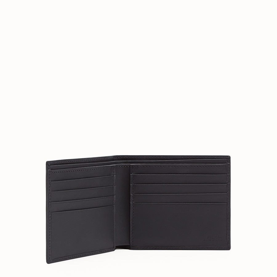 FENDI WALLET - Black fabric bi-fold - view 3 detail