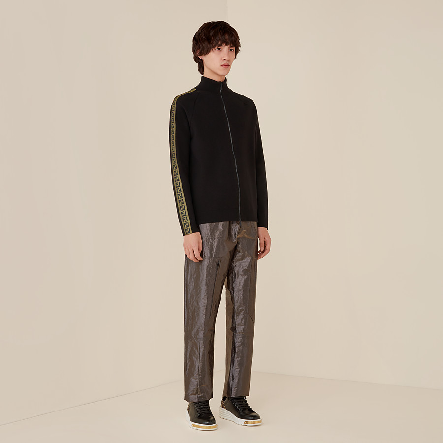 FENDI CARDIGAN - Black fabric jumper - view 4 detail