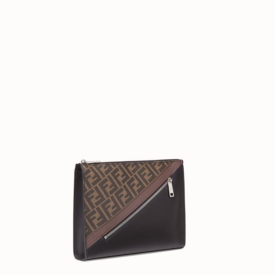 FENDI CLUTCH - Pochette in tessuto marrone - vista 2 dettaglio