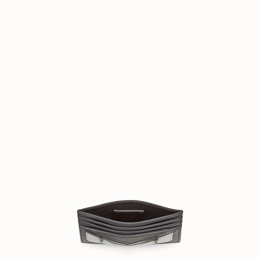 FENDI CARD HOLDER - in gray laminated leather - view 3 detail