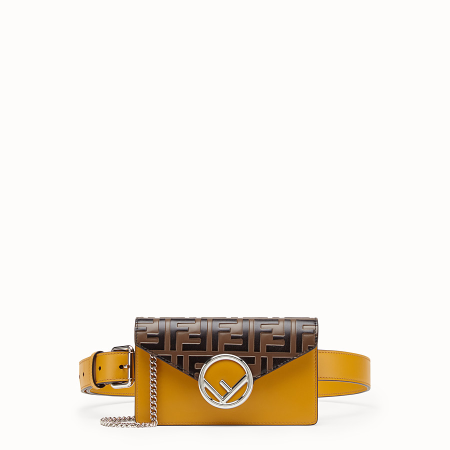 FENDI BELT BAG - Yellow leather belt bag - view 1 detail