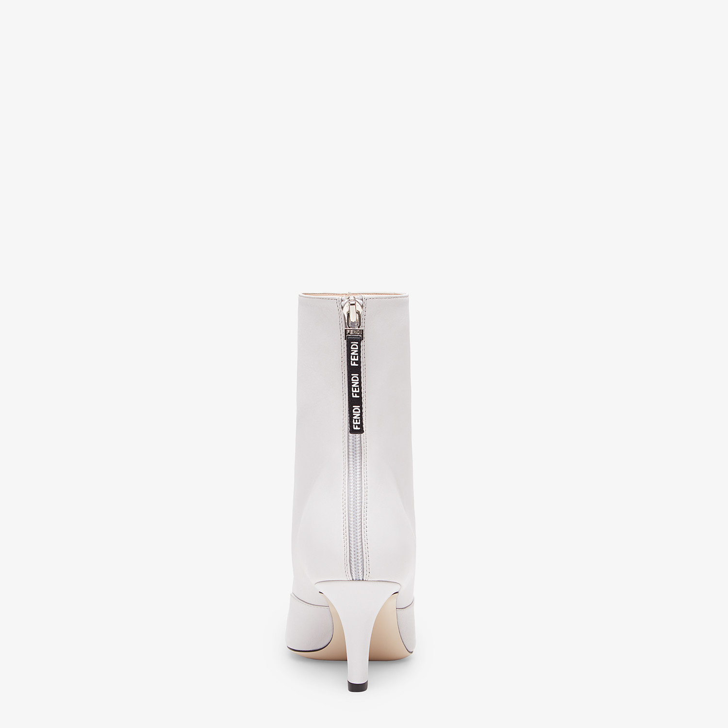 FENDI ANKLE BOOTS - White nappa leather booties - view 3 detail