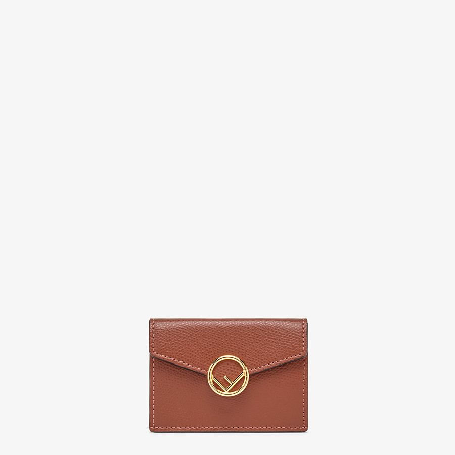 FENDI MICRO TRIFOLD - Brown leather wallet - view 1 detail