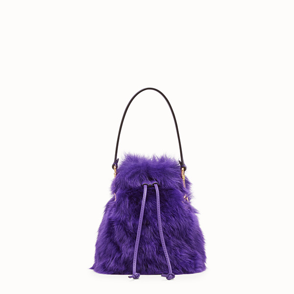 FENDI MON TRESOR - Mini sac en mouton violet - view 1 small thumbnail