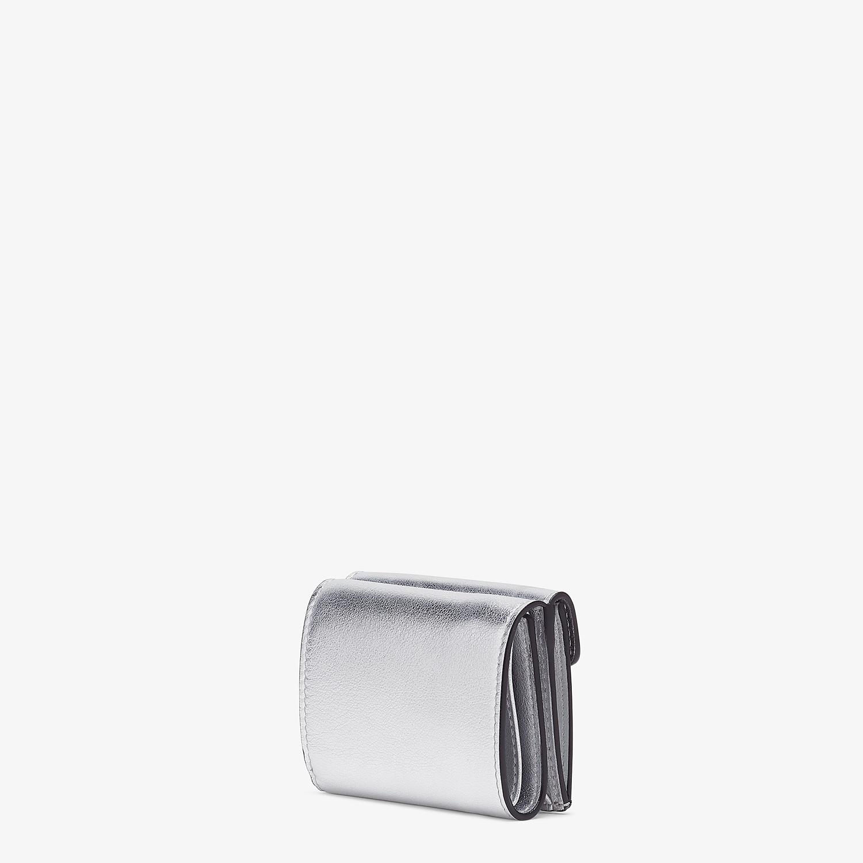 FENDI MICRO TRIFOLD - Silver leather wallet - view 2 detail