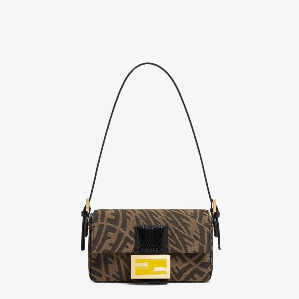 Brown jacquard FF Vertigo bag