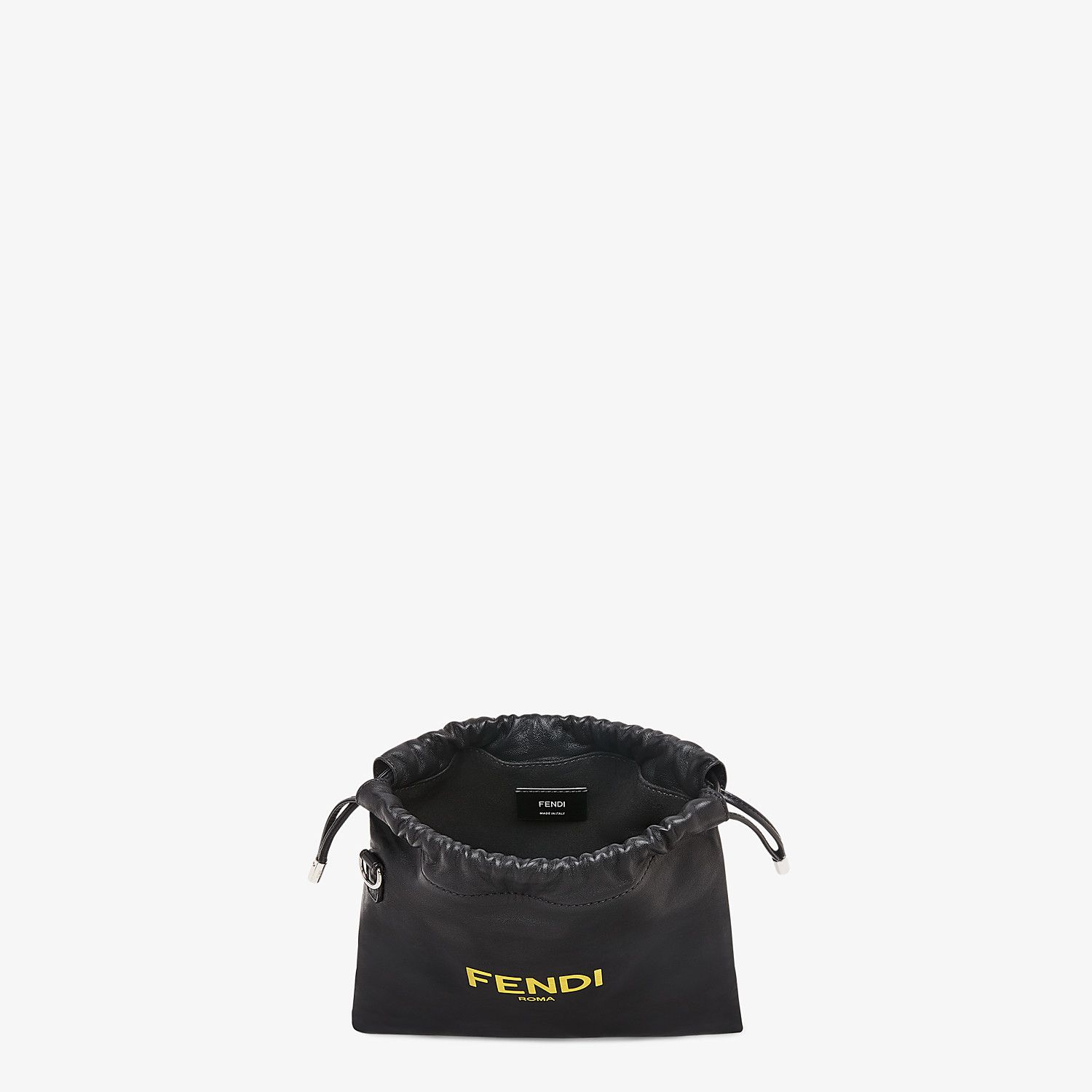 FENDI FENDI PACK SMALL POUCH - Black nappa leather bag - view 4 detail