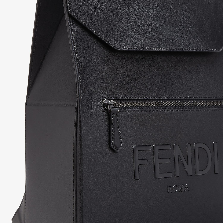 FENDI FENDI PACK BACKPACK - Black leather backpack - view 4 detail