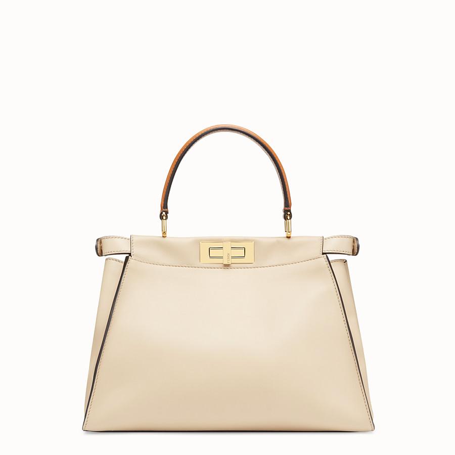 FENDI PEEKABOO ICONIC MEDIUM - Beige leather bag - view 5 detail