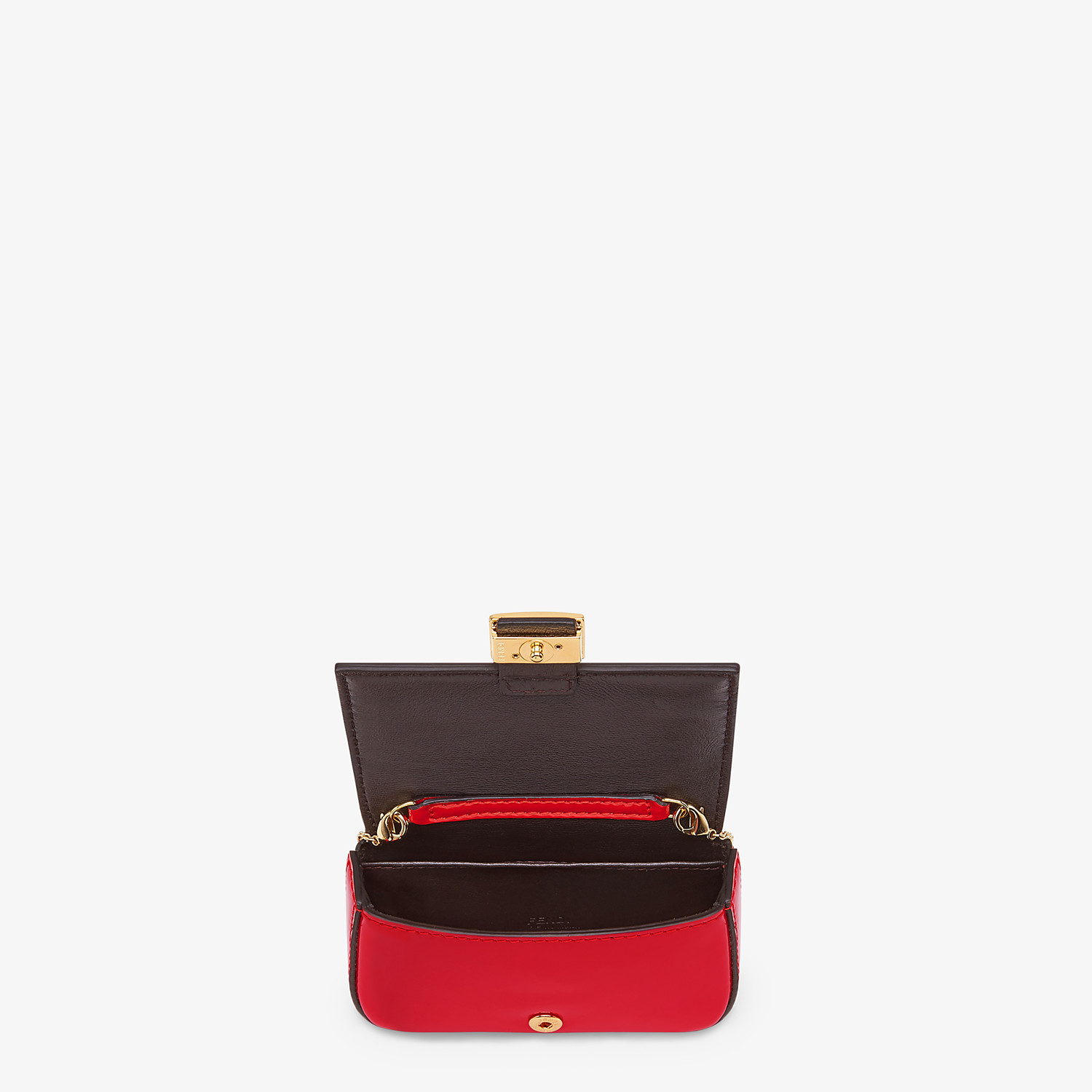 FENDI NANO BAGUETTE CHARM - Red patent leather charm - view 5 detail