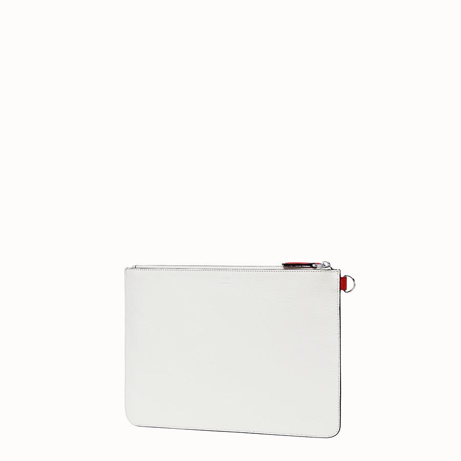 FENDI スリム クラッチ - ホワイトレザー クラッチバッグ - view 2 detail