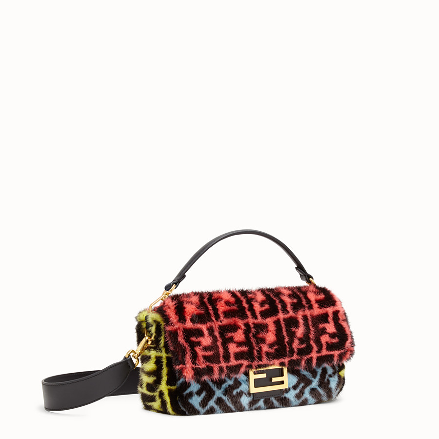 FENDI BAGUETTE - Multicolour mink bag - view 2 detail