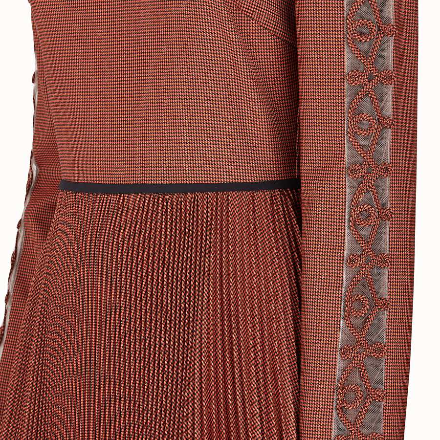 FENDI DRESS - Orange wool dress - view 3 detail
