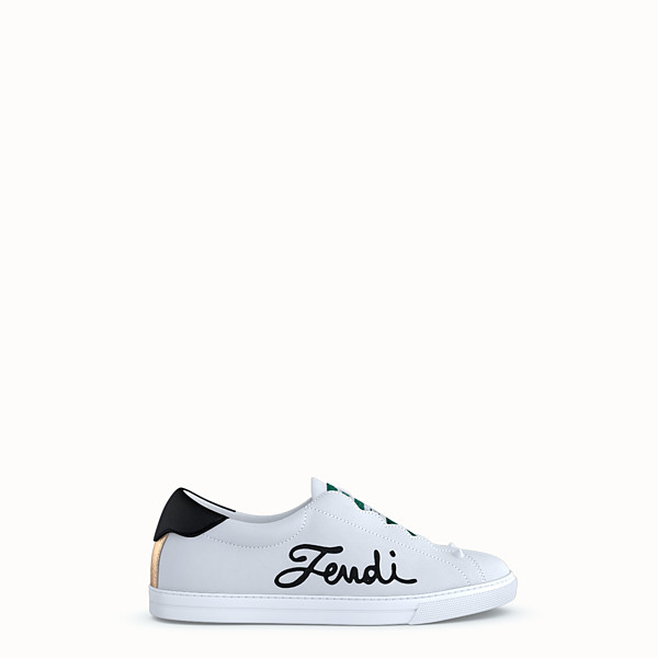 FENDI SNEAKERS - Customisable leather slip-ons - view 1 small thumbnail