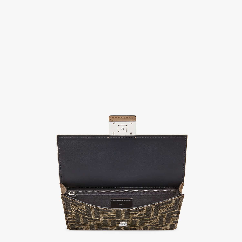FENDI BAGUETTE POUCH - Brown fabric bag - view 4 detail