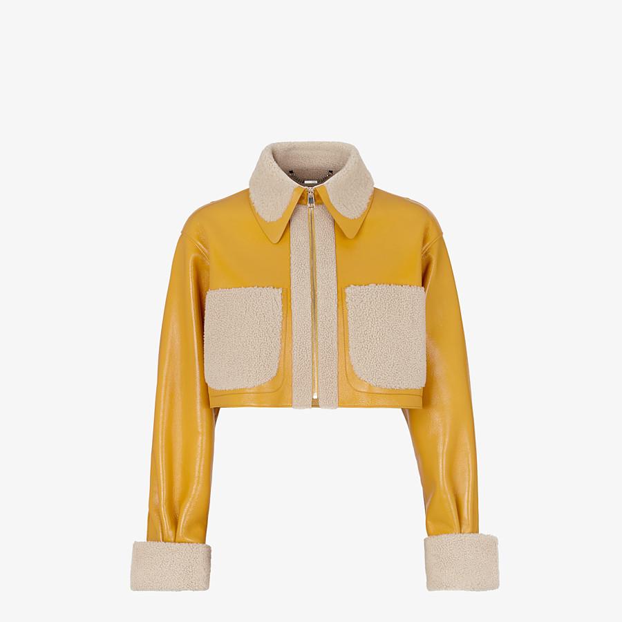 FENDI JACKET - Yellow shearling jacket - view 1 detail