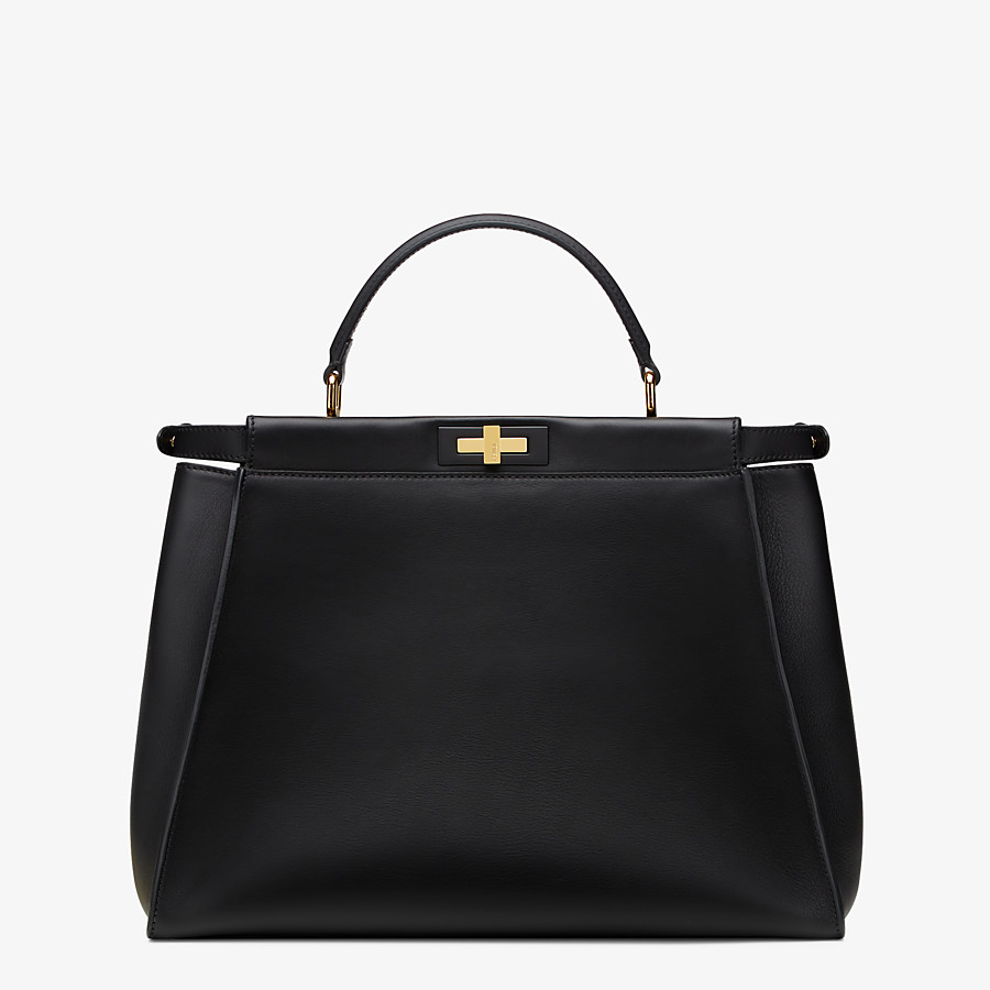 FENDI PEEKABOO ICONIC LARGE - Black leather bag - view 3 detail