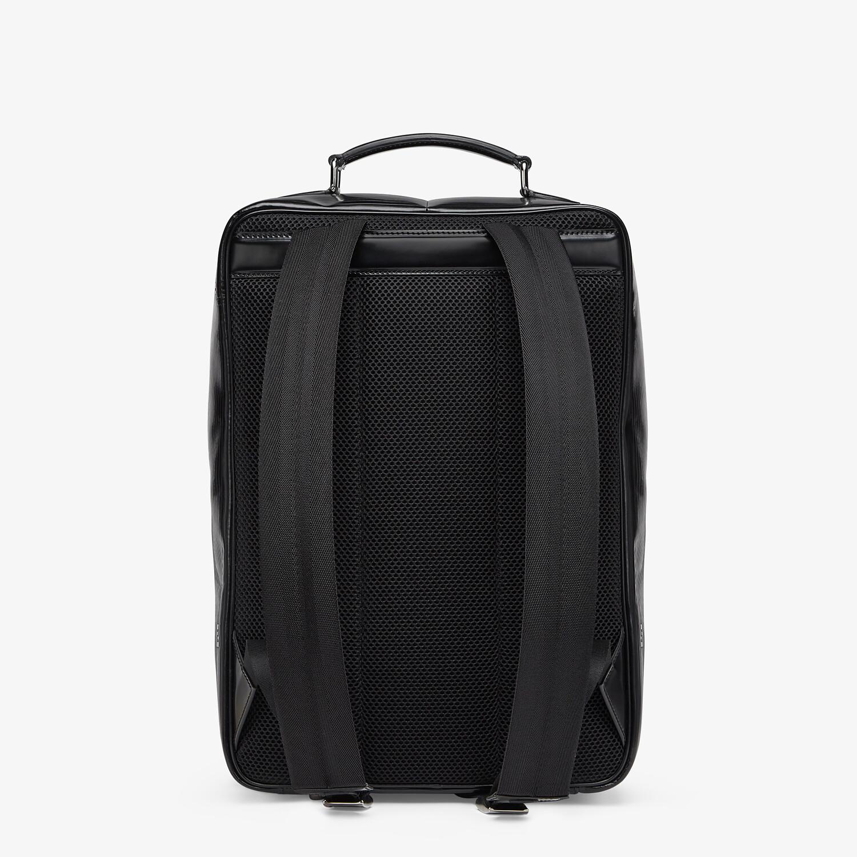 FENDI TRAVEL BACKPACK - Black leather backpack - view 3 detail