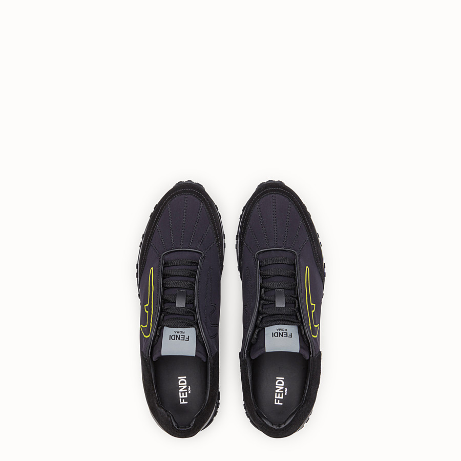FENDI SNEAKERS - Black scuba low-tops - view 4 detail