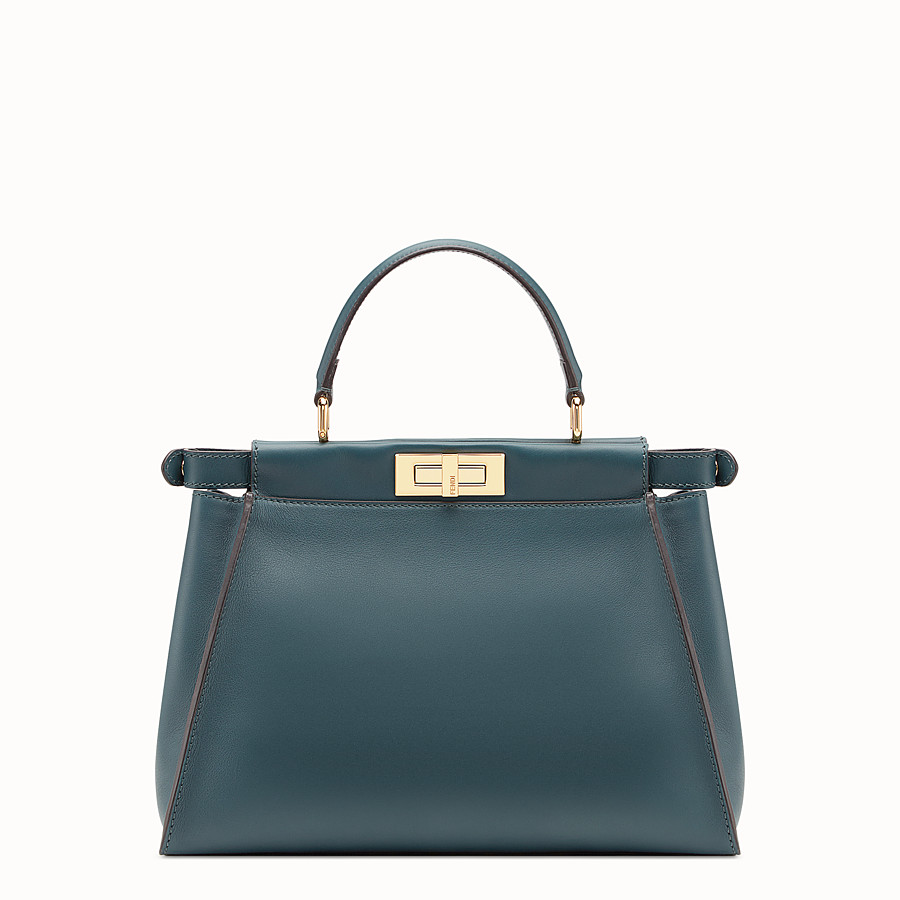 FENDI PEEKABOO REGULAR - Bolso de piel verde - view 3 detail