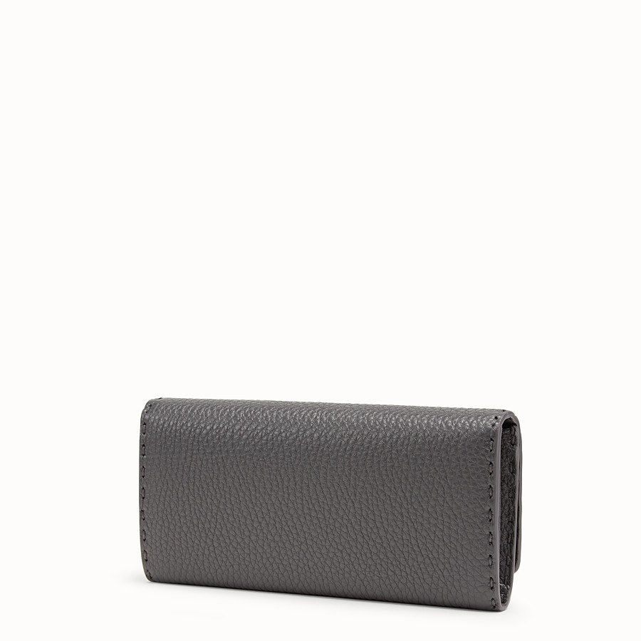 FENDI CONTINENTAL - Grey leather wallet - view 2 detail