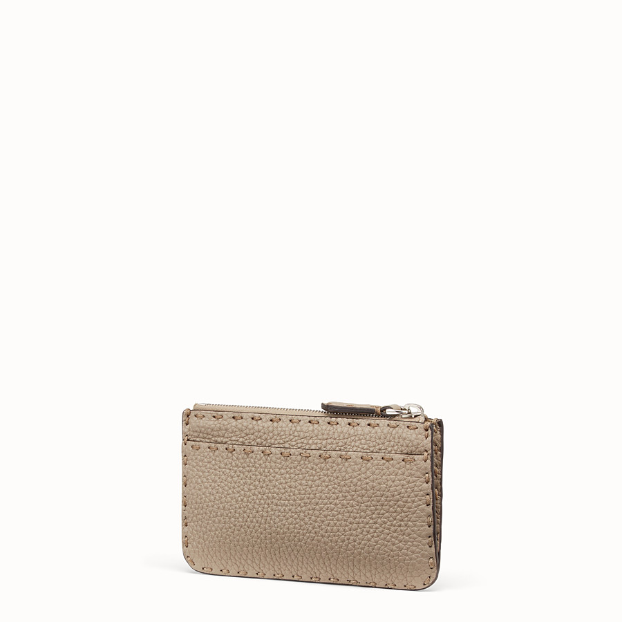 FENDI KEY RING - Beige leather pouch - view 2 detail