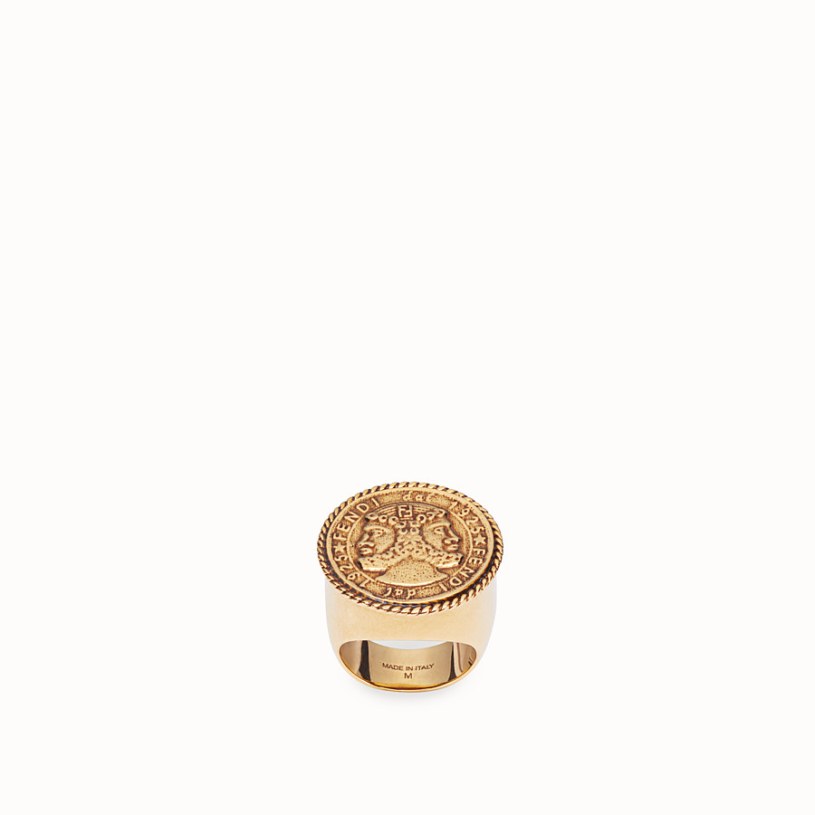 FENDI KARLIGRAPHY RING - Gold-colour ring - view 1 detail