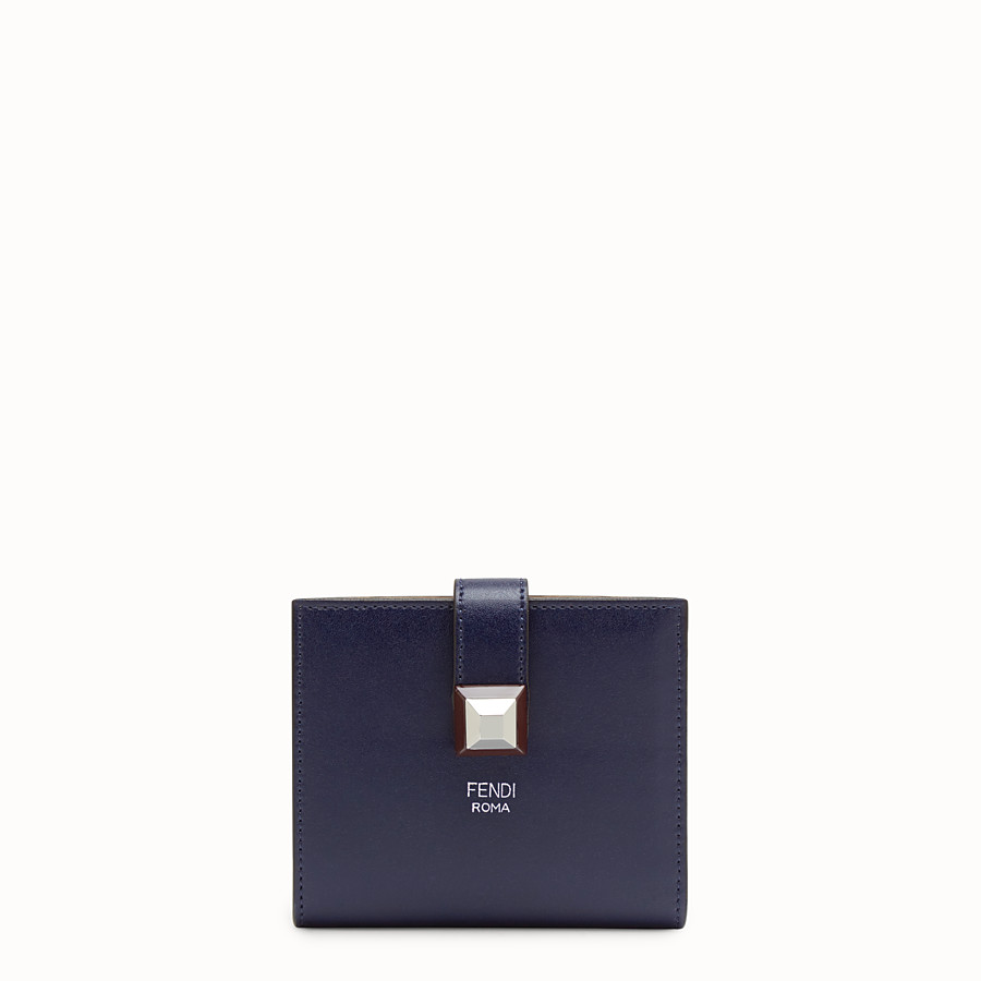 FENDI BIFOLD - Small blue leather wallet - view 1 detail