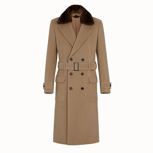 FENDI COAT - Brown wool coat - view 1 small thumbnail