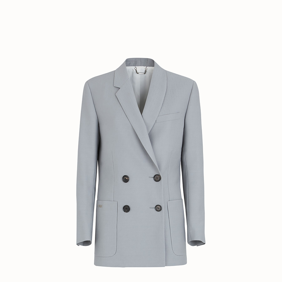 FENDI JACKET - Grey wool jacket - view 1 detail