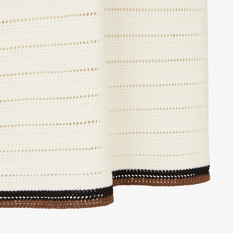 FENDI SKIRT - White cotton skirt - view 3 detail