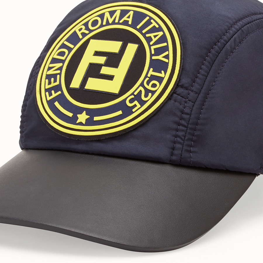 FENDI HAT - Blue nylon baseball cap - view 2 detail