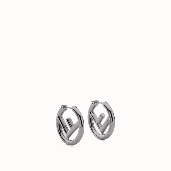 FENDI F IS FENDI EARRINGS - Ruthenium colour earrings - view 1 small thumbnail