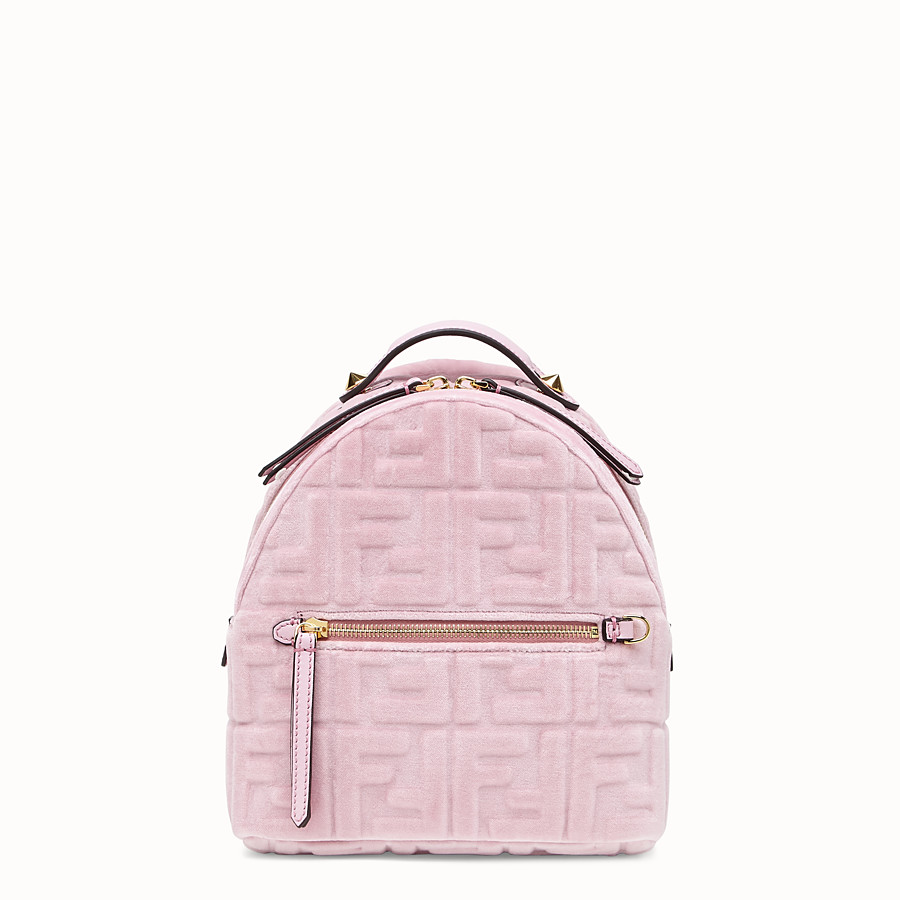 FENDI MINI BACKPACK - Small velvet backpack - view 1 detail