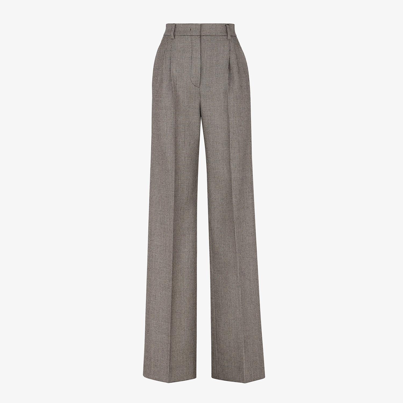FENDI TROUSERS - Brown wool trousers - view 1 detail