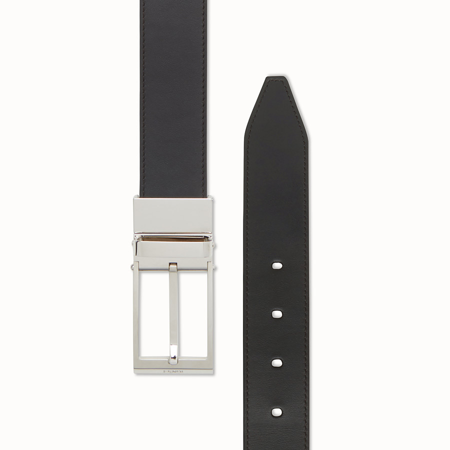 FENDI BELT - Black and yellow leather belt - view 2 detail