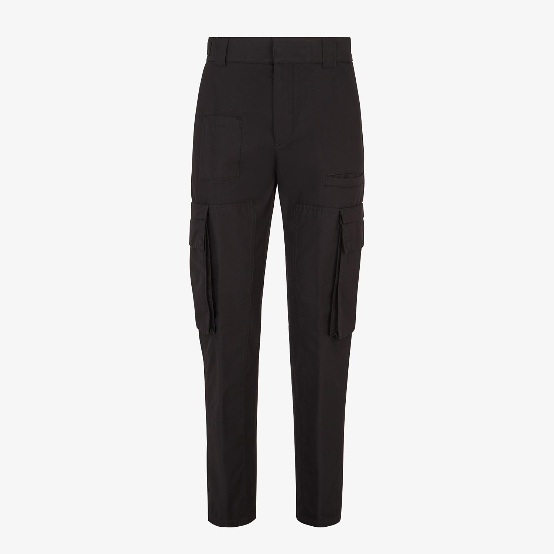 FENDI PANTS - Black cotton pants - view 1 detail