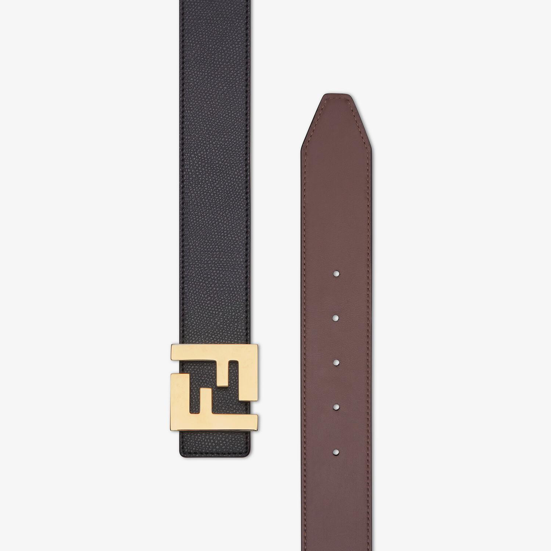FENDI BELT - Black leather belt - view 2 detail