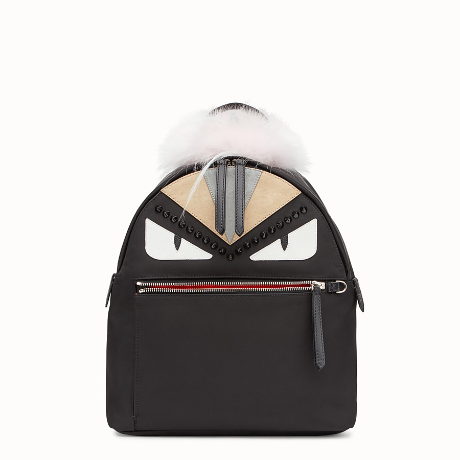 FENDI BACKPACK - Black fabric backpack - view 1 detail