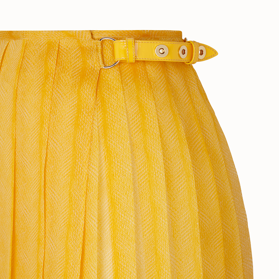 FENDI SKIRT - Yellow organza skirt - view 3 detail