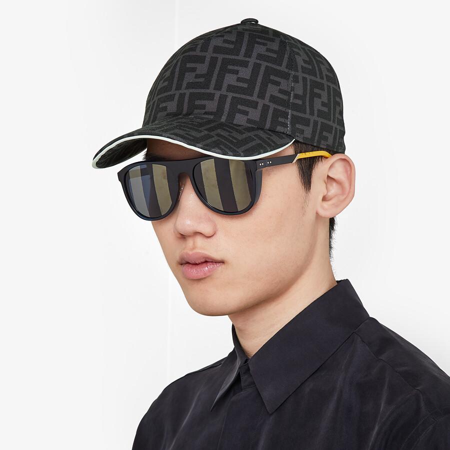 FENDI HAT - Black fabric baseball cap - view 3 detail
