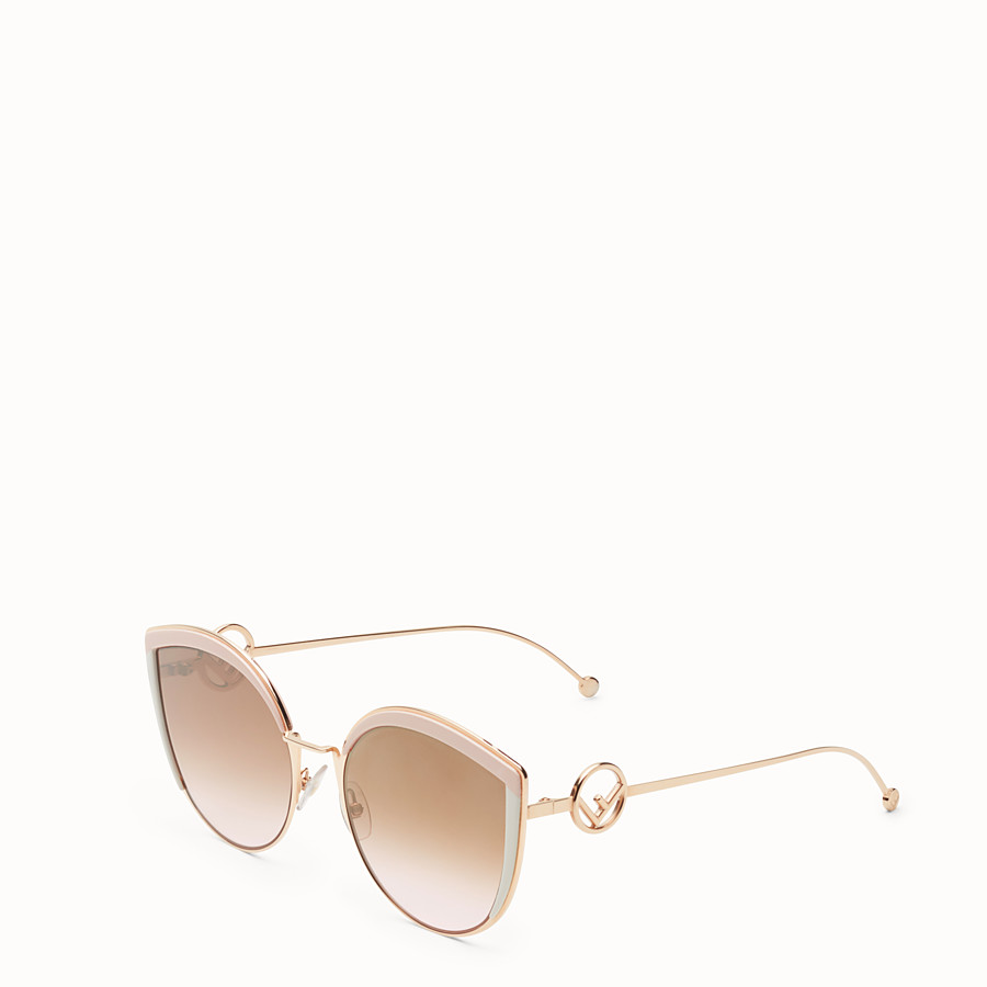 FENDI F IS FENDI - Copper-colour sunglasses - view 2 detail
