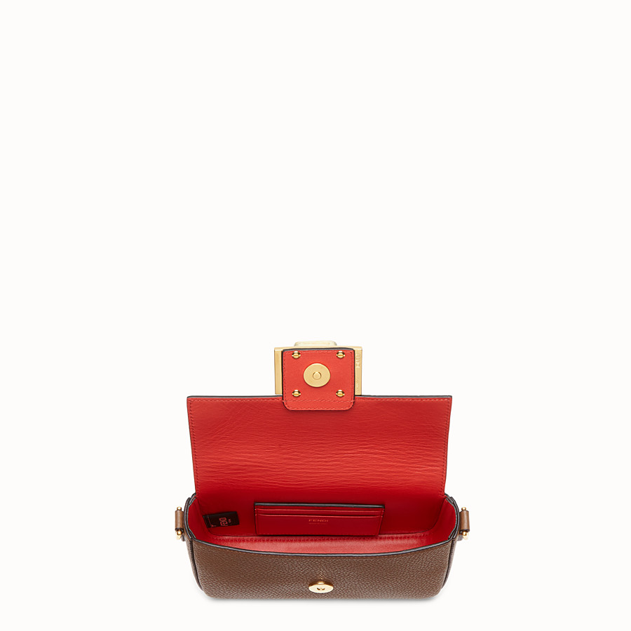 FENDI MINI BAGUETTE - Brown leather bag - view 4 detail